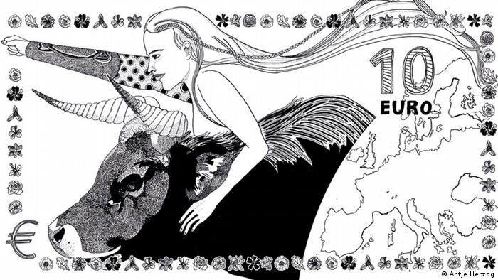 New Euro Design 10 Euro Schein Antje Herzog