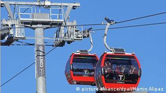 El teleférico de La Paz.