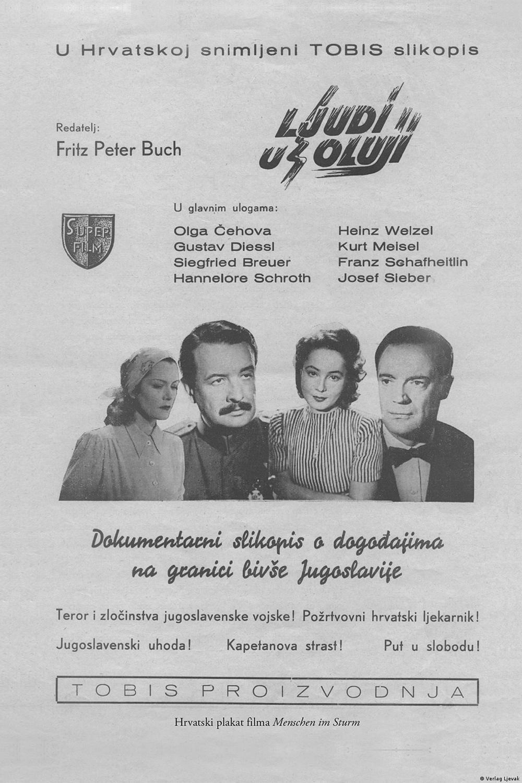 Plakat zum Film Menschen im Sturm Kroatien 1941