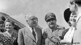 Dreharbeiten zum Film Menschem im Sturm 1941