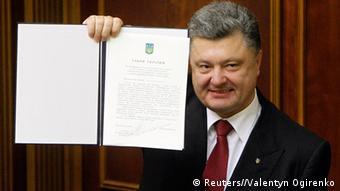 Петро Порошенко після підписання угоди про асоціацію