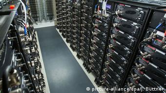 Batteriepark von Innen (Foto: dpa)