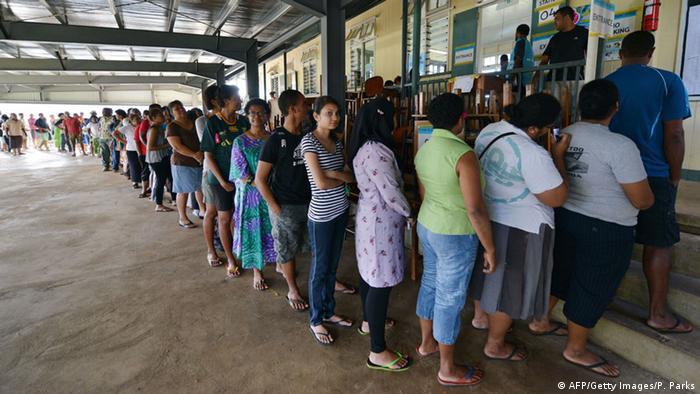 Parlamentswahl in Fidschi 17.09.2014