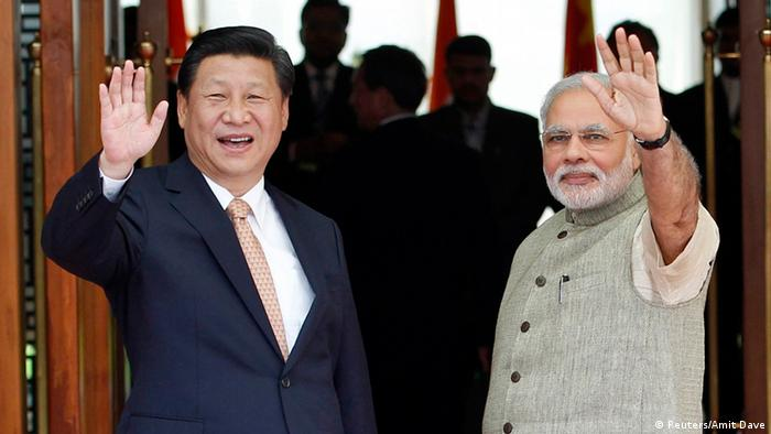 Xi Jinping bei Modi 17.09.2014 Ahmedabad
