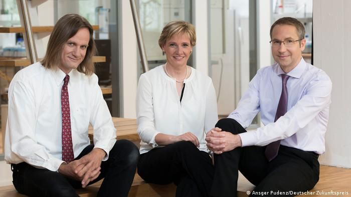 Michael George, Andrea Brüggemann and Niels Fertig (Photo: Ansgar Pudenz, German Future Prize).