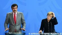 Bundeskanzlerin Merkel mit dem Emir von Katar, Tamim bin Hamad Al Thani