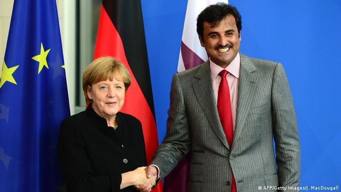 Merkel and the Qatari emir