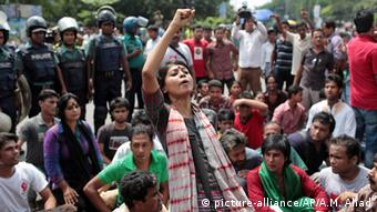 Bangladesch Dhaka Gericht Kriegsverbrechen Delwar Hossain Sayeedi Protest gegen Urteil
