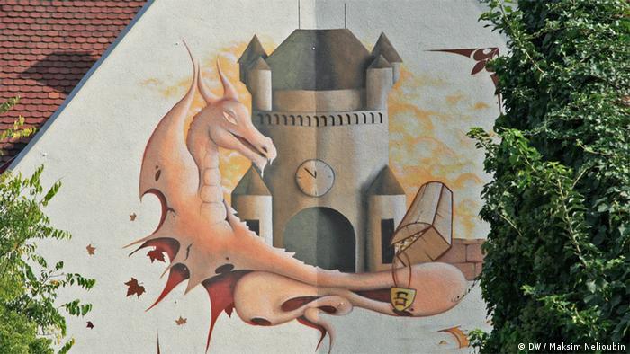 Граффити на стене одного из домов в Вормсе