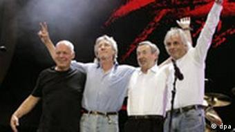 Pink Floyd bei bei einem Benefizkonzert
