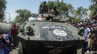 Angriff von Boko Haram im nordöstlichen Stadt Konduga nahe Maiduguri / Nigeria