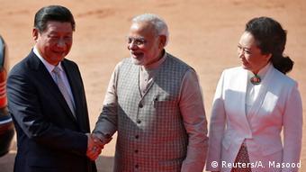 Indien Staatspräsident von China Xi Jinping trifft Premierminister von Indien Narendra Modi 18.09.2014