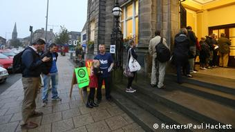 Schottland Referendum Wahllokal in Edinburgh 18.09.2014