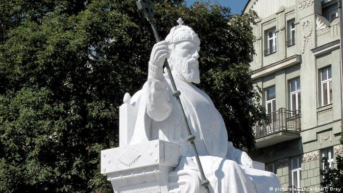 Denkmal König Samuil in Skopje in Mazedonien (picture-alliance/dpa/T. Brey)