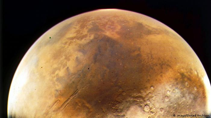 Der Planet Mars Aufnahme aus dem Weltraum