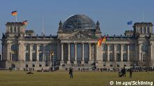 Deutscher Bundestag Reichstagsgebäude in Berlin