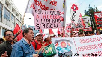 Proteste gegen die Regierung in Ecuador 17.09.2014