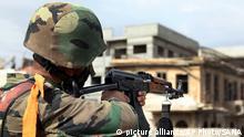 Syrien Soldat Archiv 2013 bei Damascus