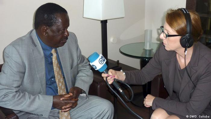Raila Odinga being interviewed by Andrea Schmidt