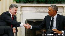 Petro Poroschenko und Barack Obama