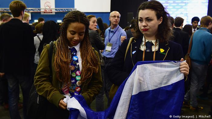 Two disappointed campaigners for Scottish independence (Getty Images/J. J. Mitchell)