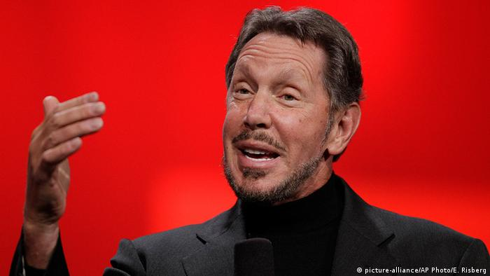 USA Wirtschaft Oracle Chef Larry Ellison (picture-alliance/AP Photo/E. Risberg)