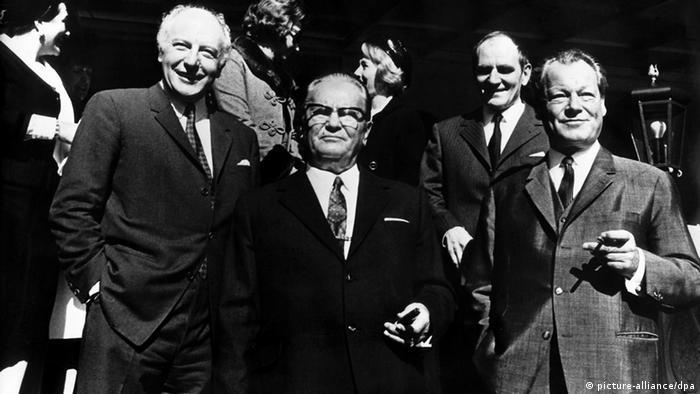 Tito in Deutschland - mit Bundeskanzler Willy Brandt