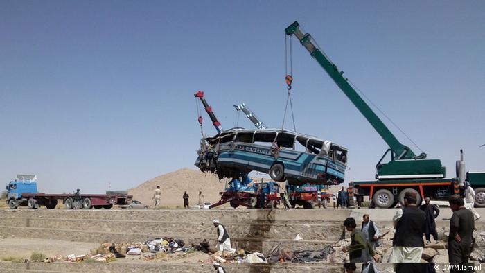 Verunglückter Bus in Kandahar, Afghanistan