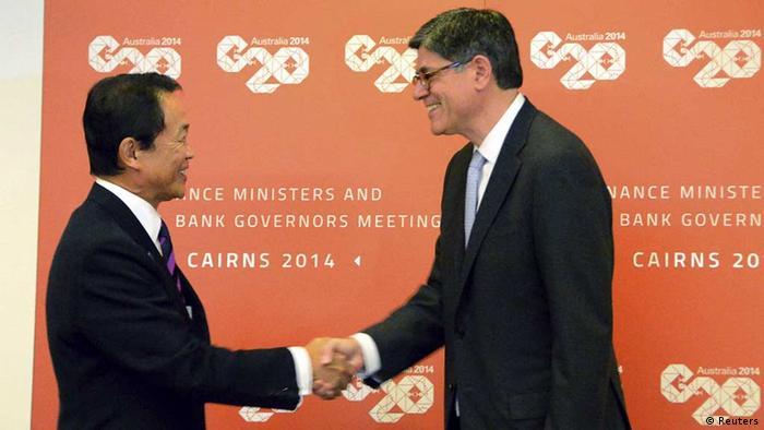 G20 / Cairns / Taro Aso und Jack Lew