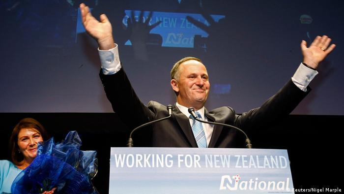 Parlamentswahlen in Neuseeland John Key 20.9.2014 (Reuters/Nigel Marple)