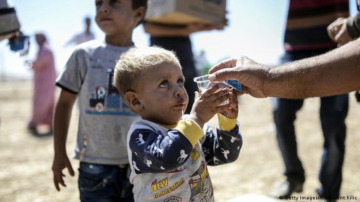Syrische Flüchtlinge an der Grenze zur Türkei bei Suruc 20.09.2014