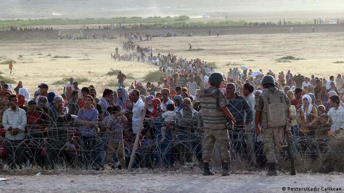 Türkei Grenze Syrien Flüchtlinge Islamischer Staat 18.09.2014