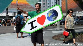 People's Climate March Protestler New York 20.09.2014