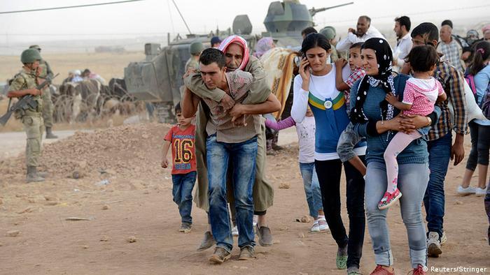 Flüchtlinge Syrien Türkei Kurden Grenze zur Türkei