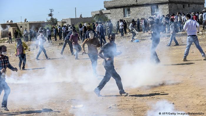 مقابله پلیس ترکیه با آوارگان کرد در مناطق مرزی