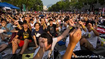 Hong Kong Studentenstreik 22.09.2014