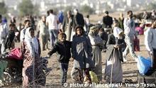 Massenflucht aus Syrien in die Türkei