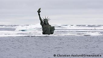 Greenpeace Symbol Arktischer Ozean Freiheitsstatue