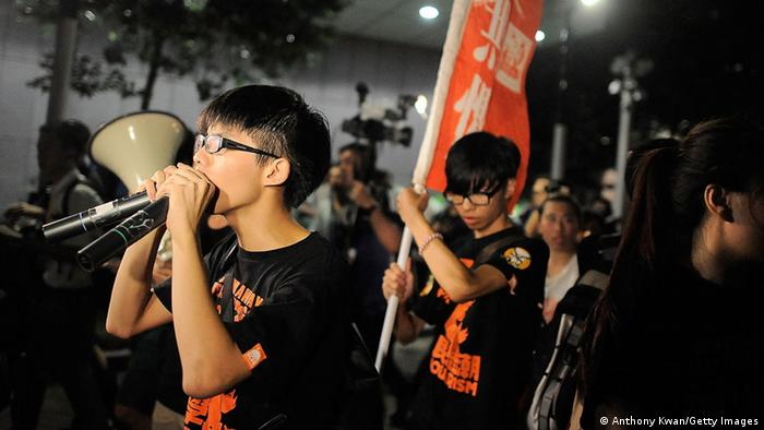 Joshua Wong Proteste in Hong Kong