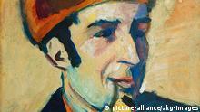 Gemälde Franz Marc Porträt gemalt von August Macke