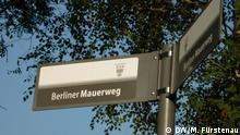 Berlin-Marathon Training auf dem Mauerweg Wegweiser