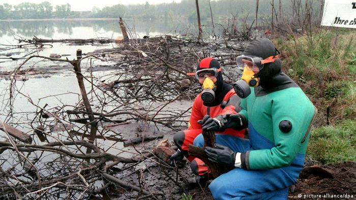 DDR Umweltverschmuztung in Bitterfeld Archiv 1990