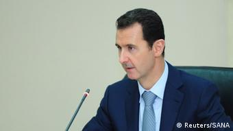 Bashar al-Assad, Porträt 31.08.2014 picture released by Syria's national news agency SANA. REUTERS/SANA/Handout via Reuters (SYRIA - Tags: POLITICS CONFLICT CIVIL UNREST) ATTENTION EDITORS - THIS PICTURE WAS PROVIDED BY A THIRD PARTY. REUTERS IS UNABLE TO INDEPENDENTLY VERIFY THE AUTHENTICITY, CONTENT, LOCATION OR DATE OF THIS IMAGE. FOR EDITORIAL USE ONLY. NOT FOR SALE FOR MARKETING OR ADVERTISING CAMPAIGNS. THIS PICTURE IS DISTRIBUTED EXACTLY AS RECEIVED BY REUTERS, AS A SERVICE TO CLIENTS