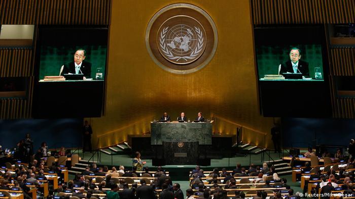 UN Klimakonferenz 2014 in New York, Überblick über den Saal (Foto: Reuters)