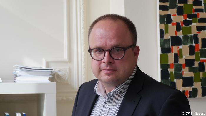 Jan Techau Carnegie-Stiftung für internationalen Frieden in Brüssel (DW/B. Riegert)