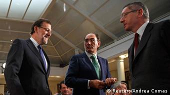 Spanien Rajoy % Sanchez Galan & Ruiz Gallardon 18.09.2014