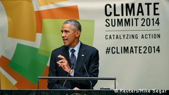 Obama beim Klimagipfel (foto: Reuters)