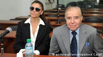 Zulema Menem y Carlos Menem.
