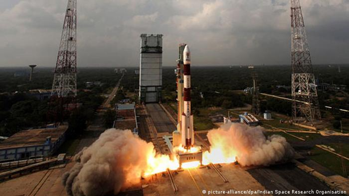 Bildergalerie Indien Mars Orbiter Mangalyaan (picture-alliance/dpa/Indian Space Research Organisation)