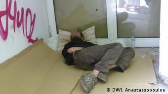 Άστεγος στην Αθήνα